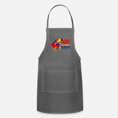 Grade 100 Days More Super Cute Elementary School Funny - Adjustable Apron
