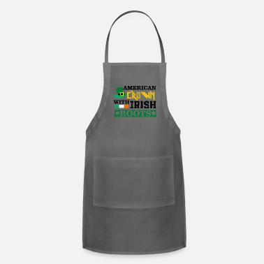 Celtic American Crown with Irish Roots St Patricks Day - Adjustable Apron