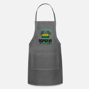 Celebrate Its St Patricks Day and My Birthday Boy girl Kids - Adjustable Apron