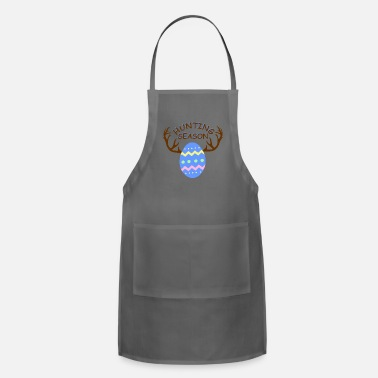 Christian Hunting Season Funny Easter Eggs with Antlers - Apron