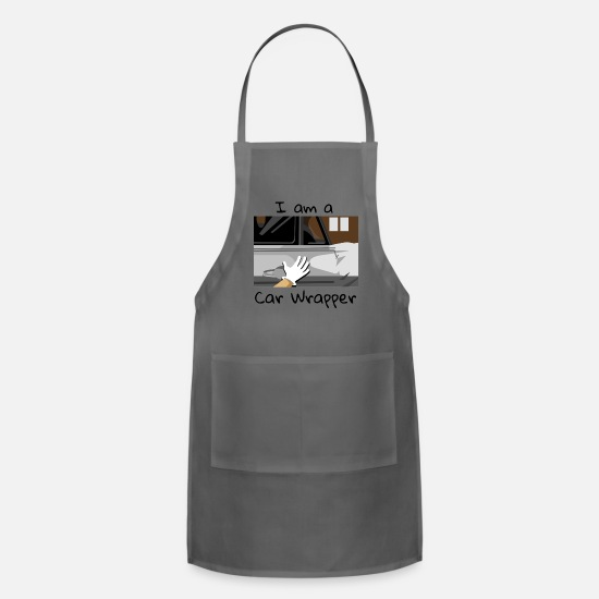 Cut Aprons - Car Wrapping Folierer Signmaker work job - Apron charcoal
