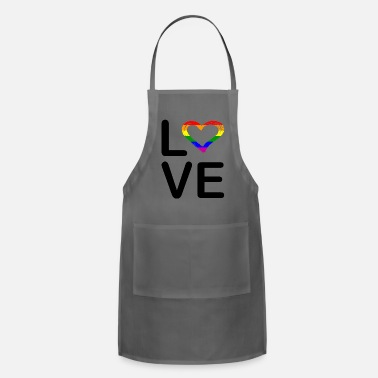 Gay LGBT LOVE Rainbow Gift for Lesbian & Gay Pride - Apron