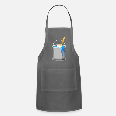 Paint Brush painting can painter color brush blue navy walls - Adjustable Apron