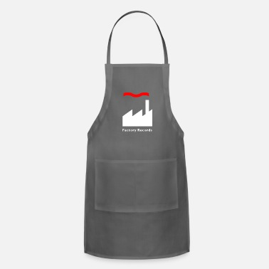 Record Champion Factory Records Retro Record Label Mens Music - Adjustable Apron