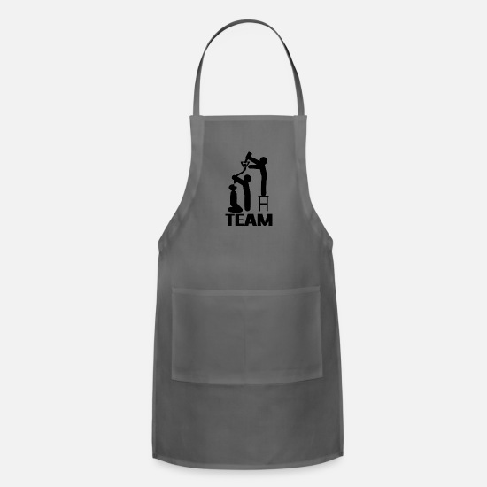 Boating Aprons - drink drink drink team - Apron charcoal