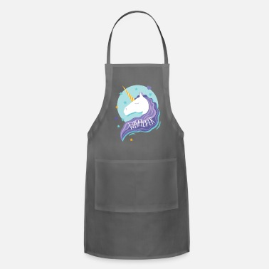 Sarcasm Whatever Unicorn Stars Hearts - Apron