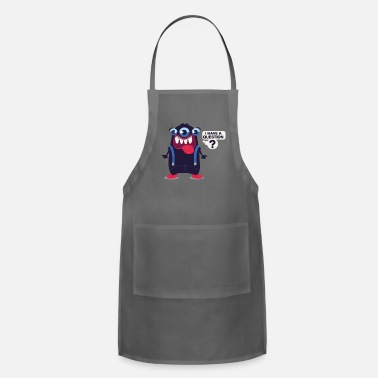 Dungarees Funny Monster Question Dungarees Kids Gift - Apron