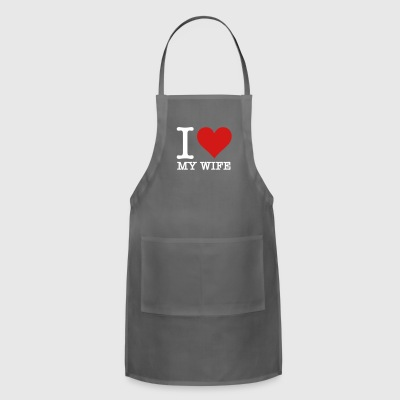 I Love My Wife - Adjustable Apron