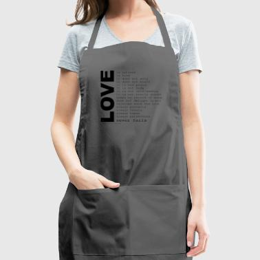 corinthians cool quotes - Adjustable Apron