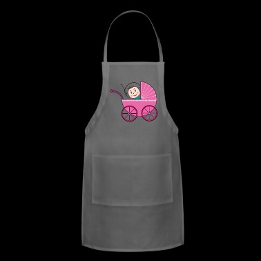 baby with headset in a baby buggy - Adjustable Apron