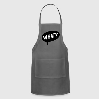 What? Question Comic Cartoon Bubble Gift Present - Adjustable Apron