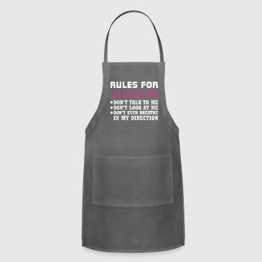 Rules For March Dont Talk Look To Me - Adjustable Apron