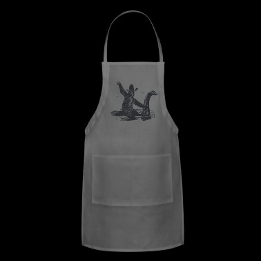 Bigfoot Riding The Loch Ness Monster T Shirt Cool - Adjustable Apron