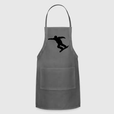 snow boarder silhouette 13 - Adjustable Apron