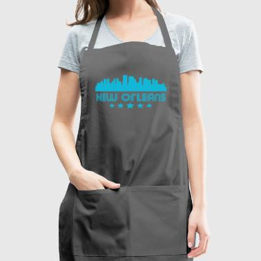 Retro New Orleans Skyline - Adjustable Apron