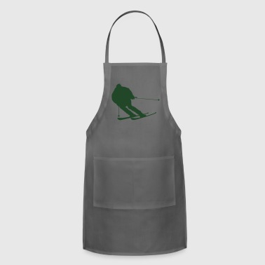 snow boarder silhouette 4 - Adjustable Apron
