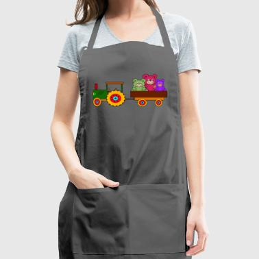 toy tractor with trailer and bears - Adjustable Apron