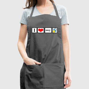 love my pacifier - Adjustable Apron