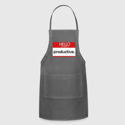HELLO my name is productive - Adjustable Apron
