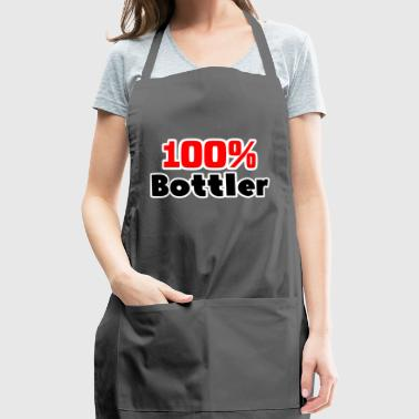 100% Bottler job T-Shirt gift - Adjustable Apron