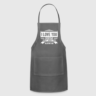 I LOVE VALENTINES - Adjustable Apron