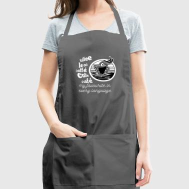 I love Coffee in every language - Adjustable Apron