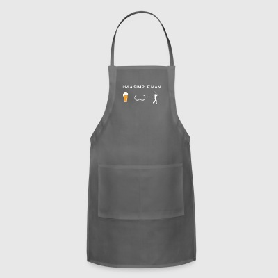 simple man like boobs bier beer titten golf sports - Adjustable Apron