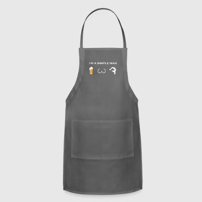 simple man like boobs bier beer titten yoga medita - Adjustable Apron