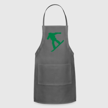 snow boarder silhouette 7 - Adjustable Apron