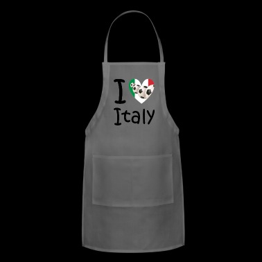 I love Italy and soccer - Adjustable Apron