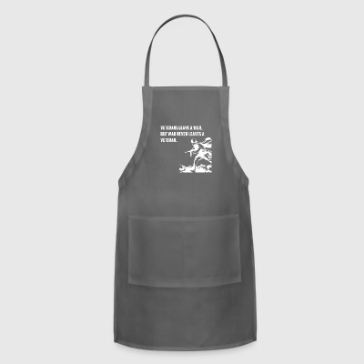 VETERANS LEAVE A WAR BUT WAR NEVER LEAVES A VETERA - Adjustable Apron