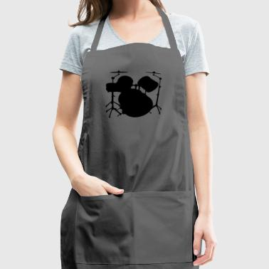 Drum Set Shirt - Drum Set Black - Adjustable Apron