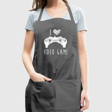 I Love Video Game Best Shirts For Video Game Lover - Adjustable Apron