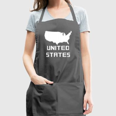 United States Of America Silhouette - Adjustable Apron