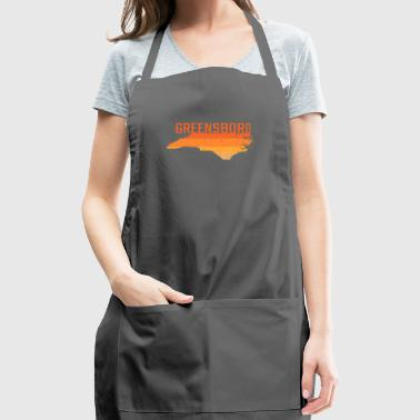 Greensboro North Carolina State Map Gift - Adjustable Apron