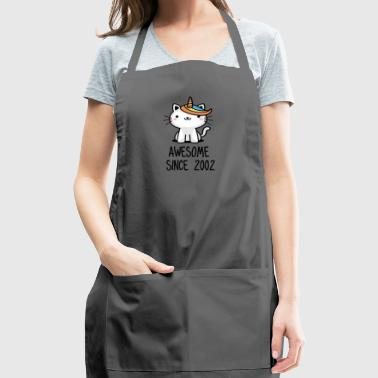 Caticorn Awesome Since 2002 16th birthday gift - Adjustable Apron
