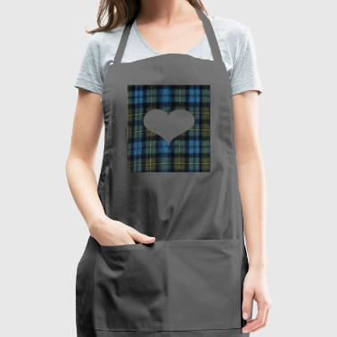 Heart for Tatar Day am and proud scots - Adjustable Apron