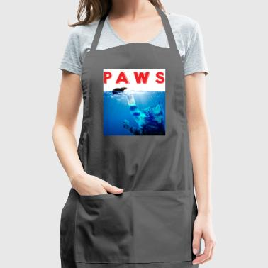 Paws Funny Cute Cat Reaching Mouse Kitten Graphic - Adjustable Apron
