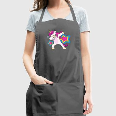 Dabbing Unicorn Shirt Dab Funny Magic Hip Hop - Adjustable Apron