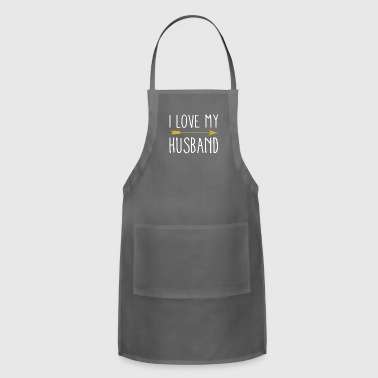 I Love My Husband With Tribal Arrow Romantic - Adjustable Apron