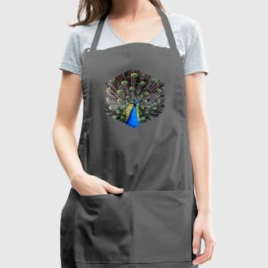 Peacock Showing Off - Hexagon Geometry Shapes - Adjustable Apron