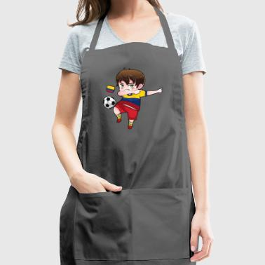 Dab Dabbing Soccer Boy World Cup Colombia Gift - Adjustable Apron