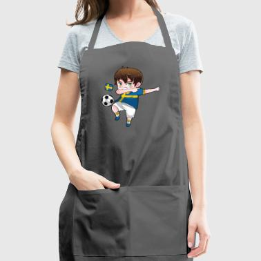 Dab Dabbing Soccer Boy World Cup Sweden Gift - Adjustable Apron