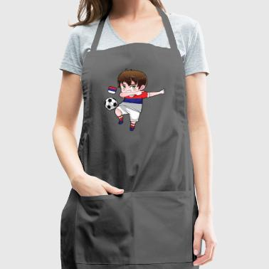 Dab Dabbing Soccer Boy World Cup Russia Gift - Adjustable Apron