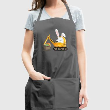 Easter Bunny Excavator with Decorated Eggs - Adjustable Apron