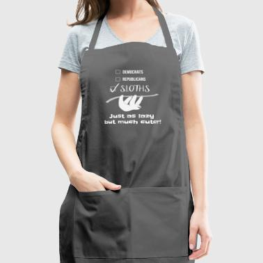 Vote for Sloths Funny Lazy Midterm Election Gift - Adjustable Apron