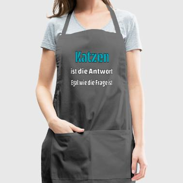 Cat cat cats is the answer present cat lover - Adjustable Apron