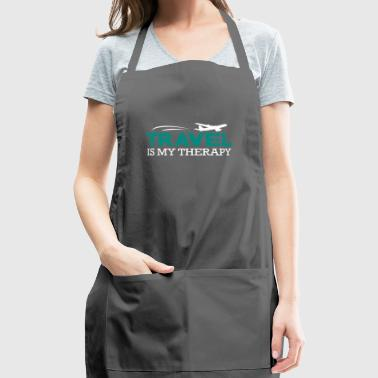 Travel is my Therapy Shirt Gift - Adjustable Apron