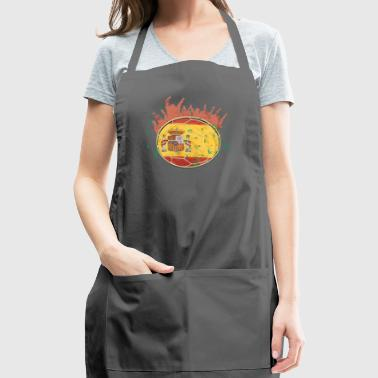 Championship Soccer Spain Fathers Day Fun Fan gift - Adjustable Apron