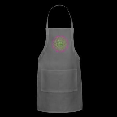 Mindful Colorful Bright Flower Circle - Adjustable Apron